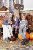 Kids talking. Thanksgiving day, holiday concept stock image