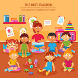 Kids Teacher Poster Royalty Free Stock Image
