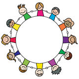 Kids team. Vector illustration of kids team Stock Photo