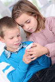 Kids and technology Stock Image