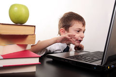 Kids and technology Stock Photo