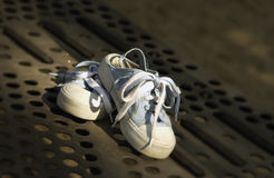 Kids tennis shoes Royalty Free Stock Photo