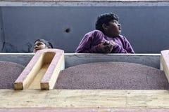 Kids at their home. Patiala , Punjab India Stock Photos