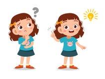 Free Kids Thinking Idea Vector Illustration Stock Photography - 157365992
