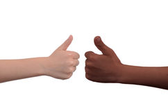 Kids Thumbs Up Stock Photography