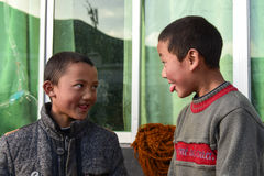 Kids in Tibet. Two kids in Tibet, China Stock Images