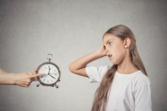 Kids time to go to bed. Stock Photo
