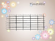 Kids timetable for school stock photography