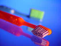 Kids Toothbrushes. Colorful kids toothbrushes Stock Photo
