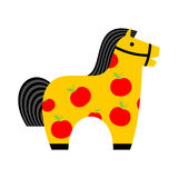 Kids toy horse apples. hoss for children. vintage fun. Retro pla Royalty Free Stock Image