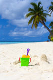 Kids toys on the beach Stock Image
