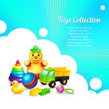 Kids toys composition Stock Photography