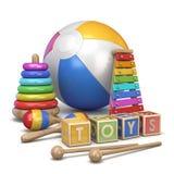 Kids toys concept 3D royalty free illustration