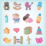 Kids and toys Royalty Free Stock Photography