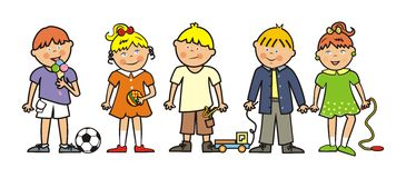Kids and toys Stock Image