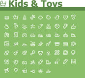 Kids and toys icon set Stock Images