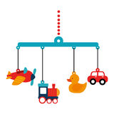 Kids toys isolated icon. Vector illustration design Royalty Free Stock Images