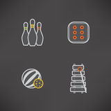 Kids toys. Safe playtime: Kids toys, pictured here from left to right, top to bottom Royalty Free Stock Image