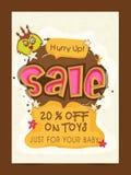 Kids Toys Sale Banner, Poster or Flyer design. Kids Toys Sale Banner, Sale Poster, Sale Flyer, Sale Vector. 20% Off, Sale Background Stock Image
