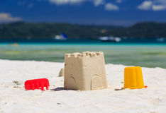 Kids toys on sand beach Royalty Free Stock Photography