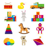 Kids toys set Royalty Free Stock Images