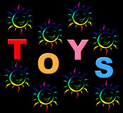 Kids Toys Shows Shopping Retail And Youths. Kids Toys Representing Youths Childhood And Youth Royalty Free Stock Images