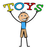 Kids Toys Shows Youths Youngster And Children's. Kids Toys Representing Toddlers Youngster And Child Stock Photography