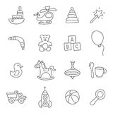 Kids toys. Vector icons Royalty Free Stock Image