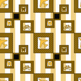 Kids traffic elements seamless pattern background Royalty Free Stock Photography