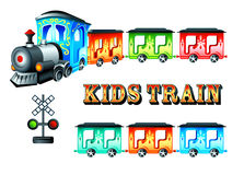 Kids train Stock Photo