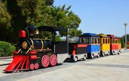 Kids Train. Carnival train at amusement park royalty free stock photography