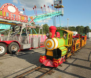 Kids Train Ride. In the carnival at livingston,nj royalty free stock images