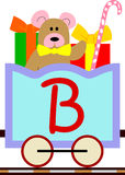 Kids & Train Series - B. Kids and train series (28 illustrations). Illustration of the alphabet letters from A to Z with two locomotives. You can choose and Royalty Free Stock Images