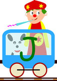 Kids & Train Series - J Royalty Free Stock Photo