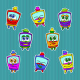 Kids trams pattern Stock Image