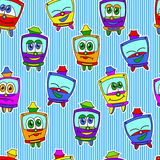 Kids trams pattern Royalty Free Stock Images