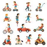 Kids Transport Icons Set Stock Photo