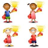 Kids Trophies Boxing Gloves vector illustration