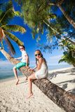 Kids on beach vacation Royalty Free Stock Photos