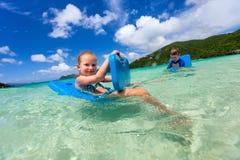 Kids on vacation Stock Photo