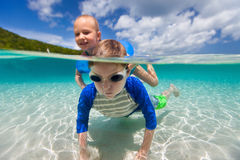 Kids on vacation Royalty Free Stock Images