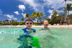 Kids on vacation Stock Photos