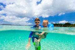 Kids on vacation Stock Images