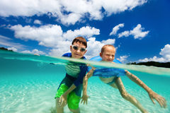 Kids on vacation Stock Image