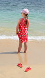 Kids vacation on tropical beach Stock Image