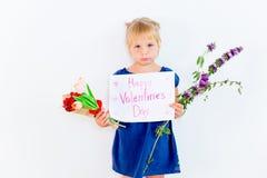 Kids Valentine day royalty free stock photo