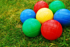 Kids' vibrant balls Stock Photos