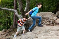 Kids walking Royalty Free Stock Images