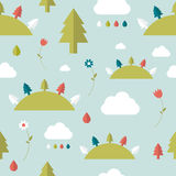 Kids wall paper pattern. Forest design Stock Photo