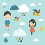 Kids wall paper pattern. Stock Images